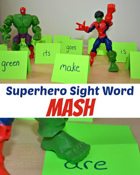 Superhero Sight Word Mash