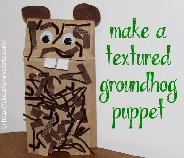 Textured Groundhog Puppet