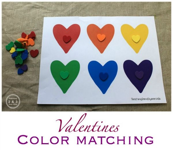 Valentines Counting and Color Sorting Activity