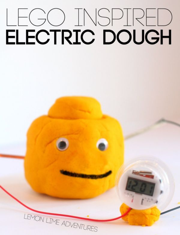 Lego Inspired Electric Dough