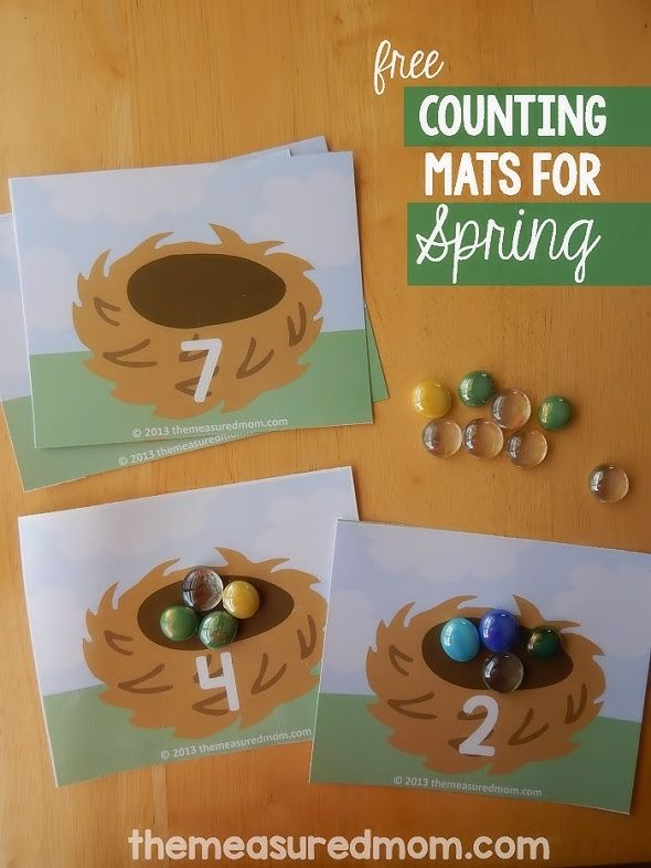 Free Printable Count the Eggs Mats