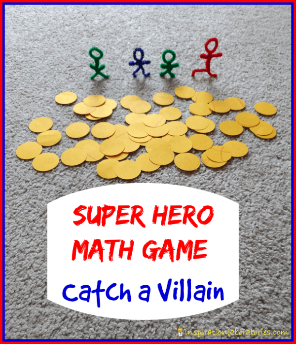 Super Hero Catch a Villain Math Game