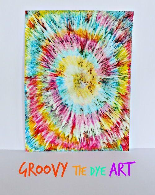 Groovy Tie Dye Art for Kids