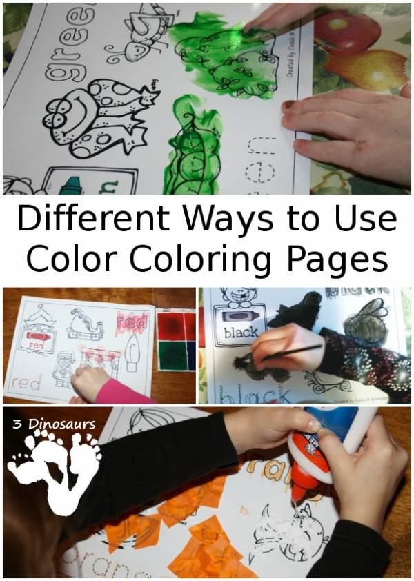 Different Ways to Use Color Coloring Pages