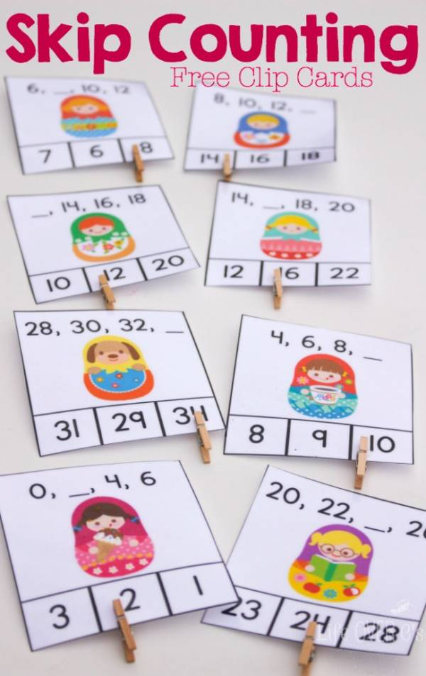 06 on Free Printable Skip Counting 2s Clip Cards