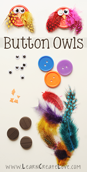 Button Owl Craft