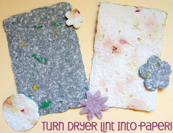 Make Paper Out of Dryer Lint