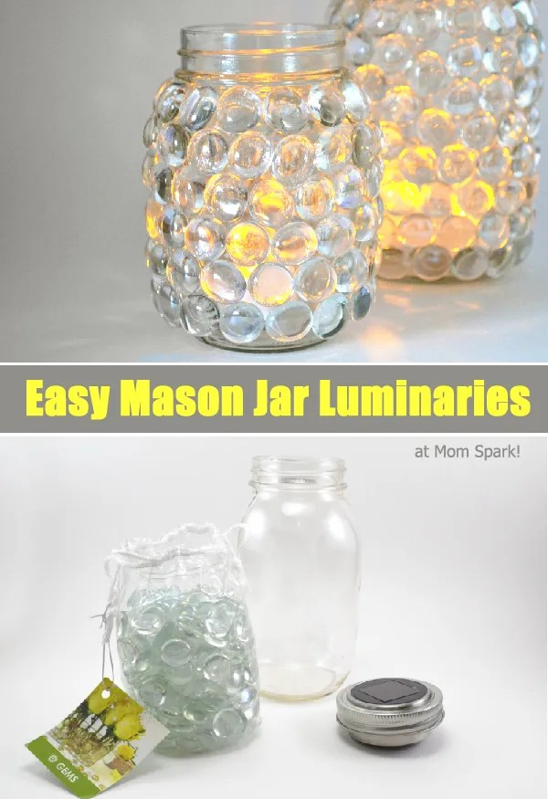 Easy Mason Jar Luminaries
