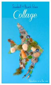 Seashell and Beach Glass Collage