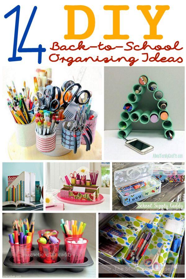 14 DIY Back-to-School Organizing Ideas
