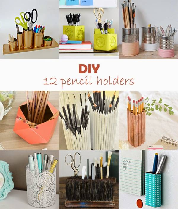 Your Workmates Will Be Jealous Of Your Desk Space With: diy pencil holder for desk