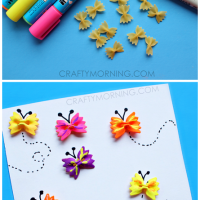Kids Craft Using Bow Tie Pasta