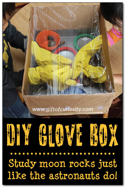 Learn about space with a DIY astronaut glove box.