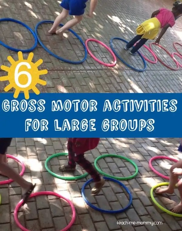 Great gross motor acitvities for kids.