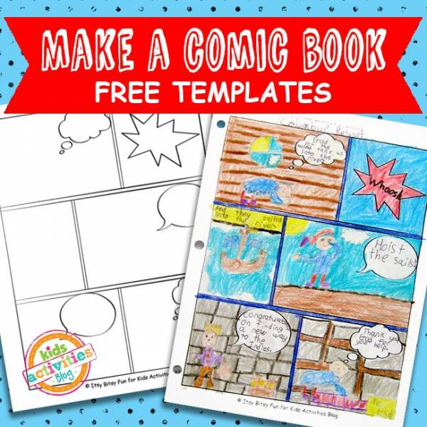 encourage writing and storytelling with printable comic book
