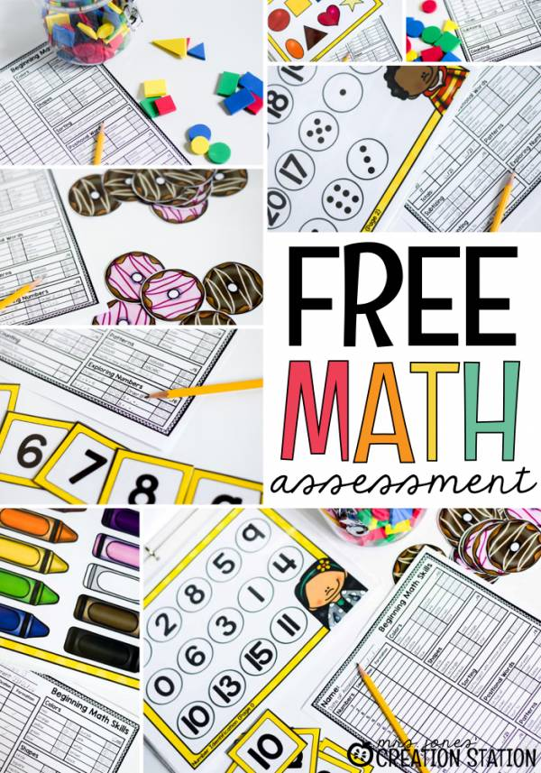 free math assessment for new math learners