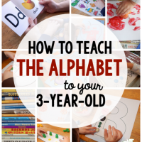 Learning Letters with a 3-Year-Old
