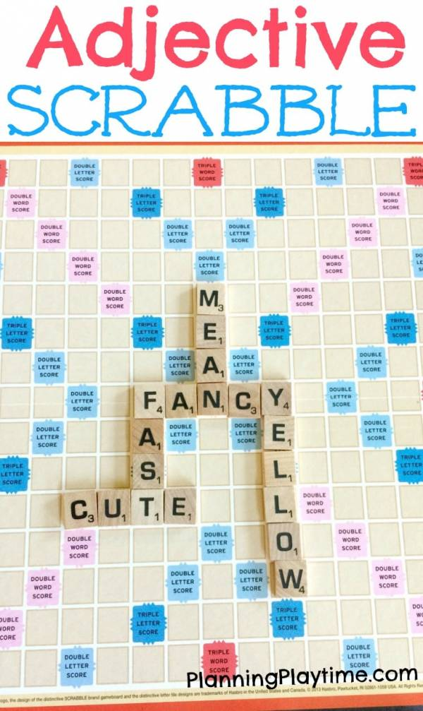 Put a twist on Scrabble by playing with parts of speech.