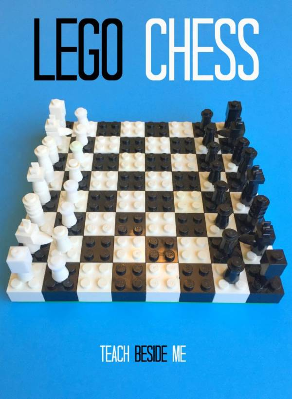 Make a chess set with Legos!