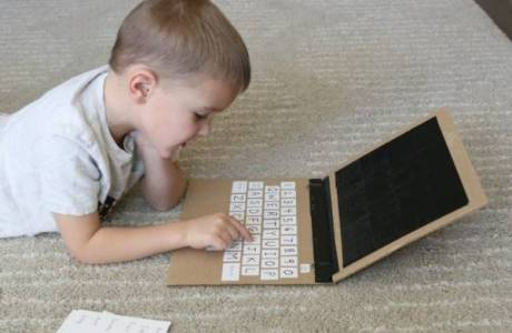 Make a Play Laptop for Kids Learning their Letters