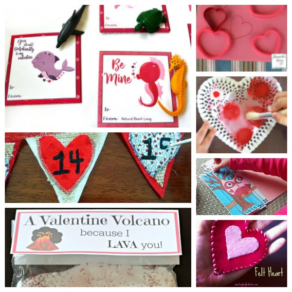 Valentine's Day cards, crafts and activities to do with your kids.