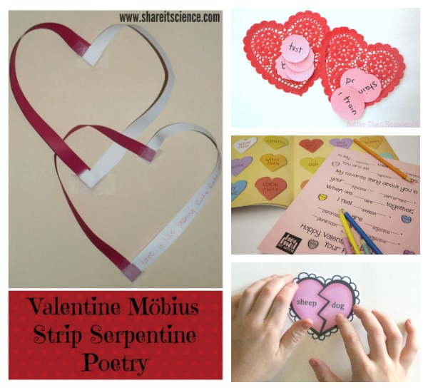 Language arts ideas for Valentine's Day.