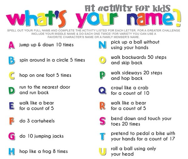 Make Fitness More Fun With A Spelling Workout Lesson Plans
