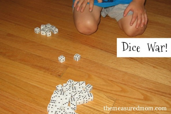 dice war and other dice games for preschoolers