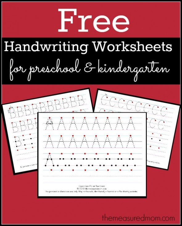 worksheets to help with letter formation.