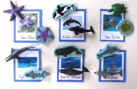 Felt Animals of the Ocean for Learning Fun