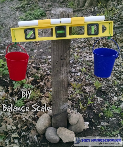 Make a simple balance scale for your backyard.