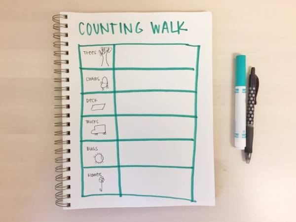 go on a counting walk with your kids