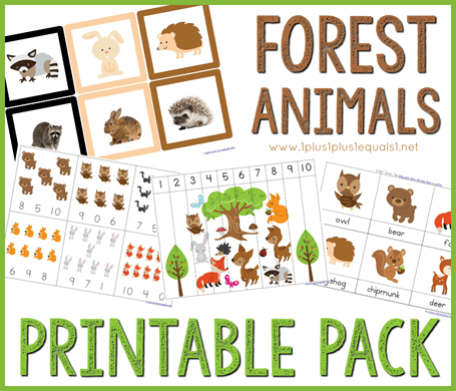 forest animals printable pack preschool
