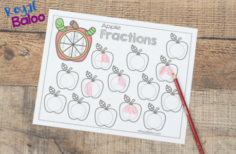 Apple Fractions Worksheets Make Learning More Fun