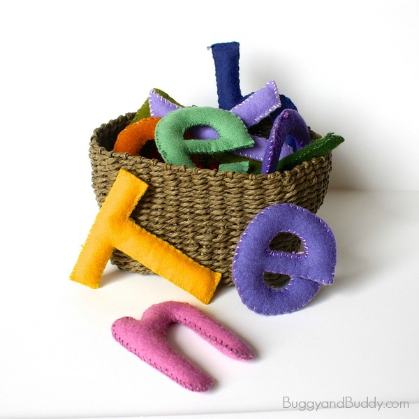 make felt letters for learning a child's name