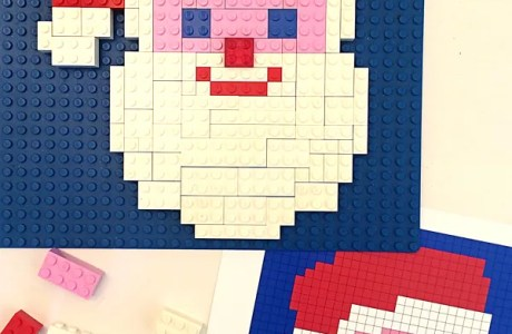 Christmas-Themed Lego Mosaics