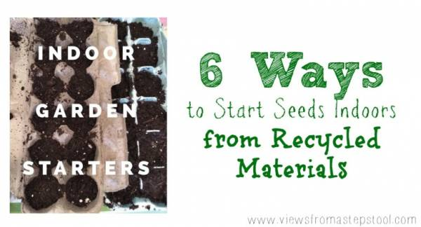 start seeds using recycled materials