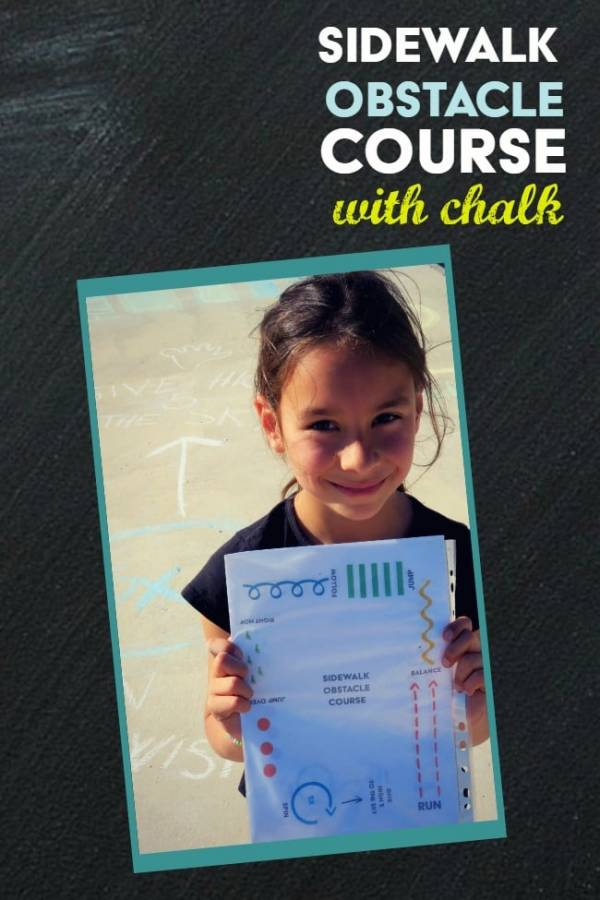 Make a Sidewalk Chalk Obstacle Course