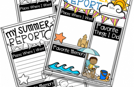Printable Summer Reports Make Capturing Memories Easy
