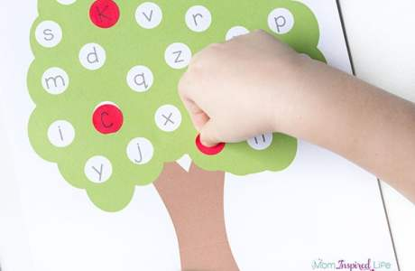 Letter Matching Apple Tree Activity for Kids
