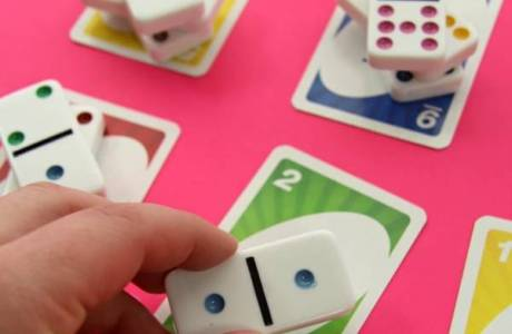 Kindergarten Counting with Dominoes and Cards