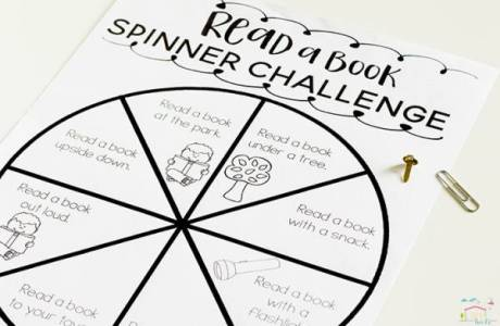 Encourage Kids to Read More with this Spinner Printable
