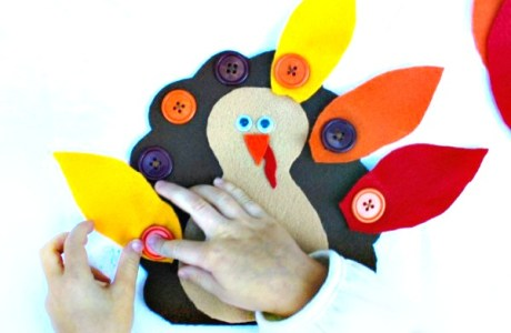 Make a Button Turkey to Help with Fine-Motor Skills