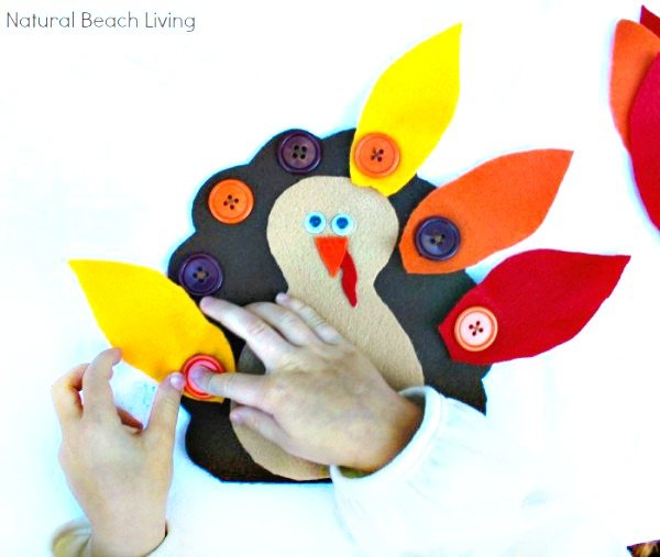 button turkey fine motor