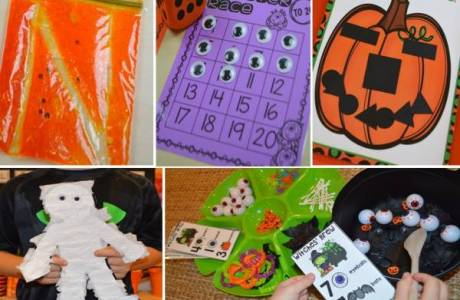 Halloween Learning Centers for Preschool and Kindergarten
