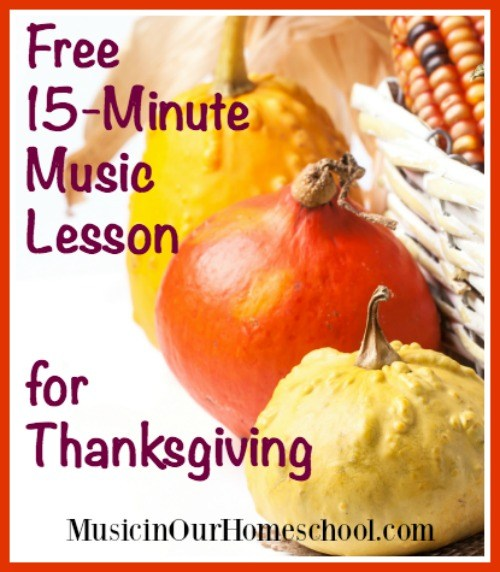 thanksgiving music lesson