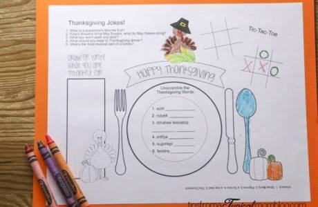 More Thanksgiving Activities for Kids
