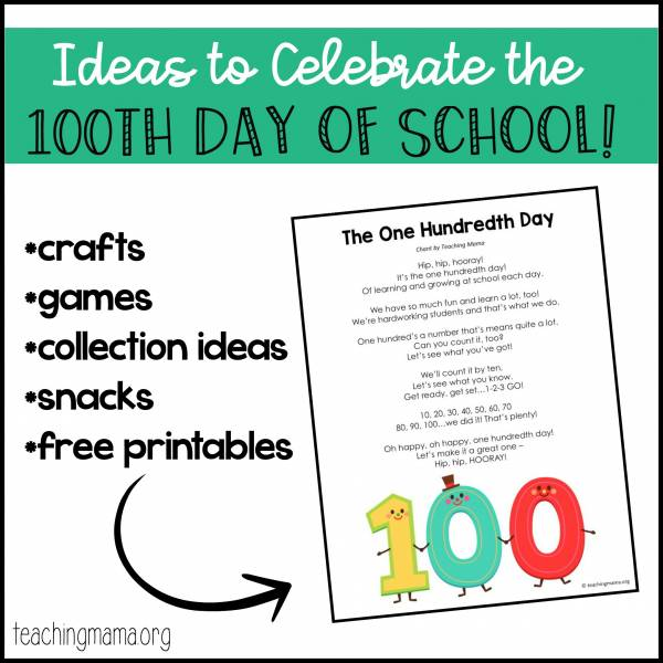 100th day of school crafts
