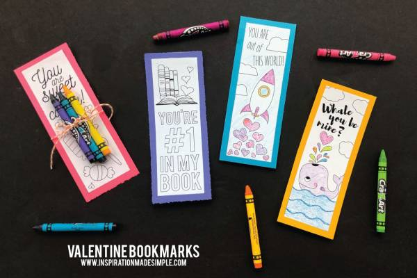 graphic about Printable Valentines Bookmarks named Printable Colour-inside Valentines Bookmarks Lesson Systems