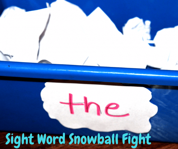 sight word snowball fight game